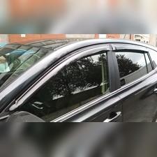 Дефлекторы, ветровики окон, Toyota Rav 4 (2013-2019) (темные)