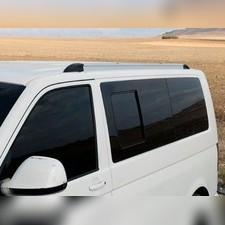 Рейлинги Volkswagen Multivan T6 интегрированные, короткая база (серебристые)