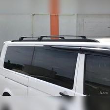 Рейлинги Volkswagen Transporter T6 интегрированные, короткая база (черные)