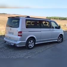 Рейлинги Volkswagen Multivan T5 интегрированные, короткая база (черные)
