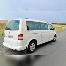 Рейлинги Volkswagen Multivan T5 интегрированные, длинная база (серебристые)