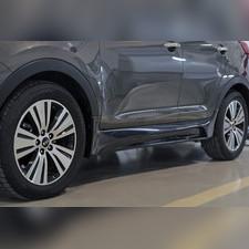 Тюнинг обвес порогов Kia Sportage 2014—2015