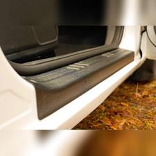 Накладки на внутренние пороги дверей задних дверей (2 шт.) Ford Focus II 2008—2010