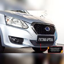 Защитная сетка и заглушка решетки переднего бампера Datsun on-DO 2014—н.в.