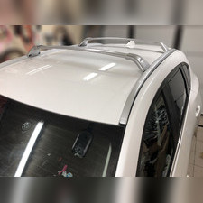 Багажник на штатные интегрированные рейлинги Mazda CX5 2017-нв, (серебристые)