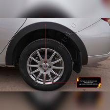 Накладки на колесные арки Renault Logan II 2018 (рестайлинг)