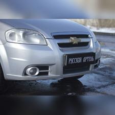 Защитная сетка решетки переднего бампера Сhevrolet Aveo(седан) 2007—2012
