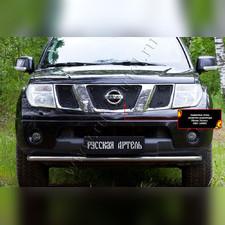 Сетка решетки радиатора и зимняя заглушка решетки перед. бампера и радиатора Nissan Navara 2005—2010