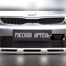 Защитная сетка переднего бампера Kia Rio IV (X-Line) 2017-н.в.