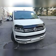 Дефлектор капота Volkswagen T6 Caravelle 2015 - нв (темный)