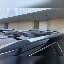 Багажник, поперечины на штатные рейлинги Chevrolet Tahoe 2015 - 2020 (черные)