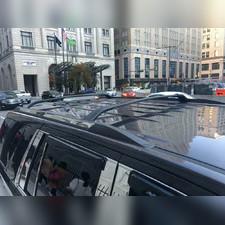 Багажник, поперечины на штатные рейлинги Cadillac Escalade 2015 - 2020 (черные)