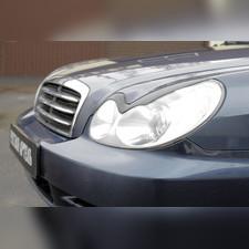 Накладки на передние фары (реснички) компл.-2 шт. Hyundai Sonata 2001–2012