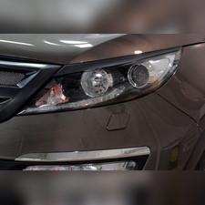 Накладки на передние фары (реснички) компл.-2 шт. Kia Sportage 2014—2015