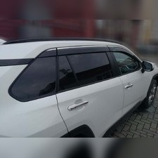 Дефлекторы окон с нержавеющим молдингом для Toyota RAV 4 2019 - нв