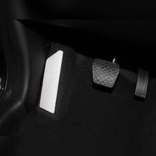 Накладка площадки левой ноги (лист алюминий 4мм) Chery Tiggo 8 2020