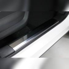 Накладки на пластиковые пороги (лист зеркальный) 4шт Chery Tiggo 7 PRO 2020