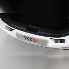 Накладки на задний бампер (лист зеркальный) 2шт Chery Tiggo 7 PRO 2020