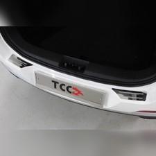 Накладки на задний бампер (лист зеркальный с полосой) 2шт Chery Tiggo 7 PRO 2020