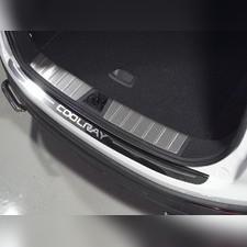 Накладка на задний бампер (лист зеркальный надпись Coolray) Geely Coolray 2020