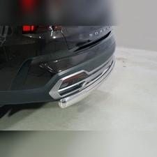 Защита задняя (овальная длинная) 75х42 мм Kia Sorento 2020
