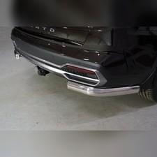 Защита задняя (уголки овальные) 75х42 мм Kia Sorento 2020