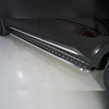 Пороги с площадкой 42,4 мм Kia Sorento 2020