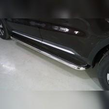 Пороги с площадкой (нерж. лист) 60,3 мм Kia Sorento 2020