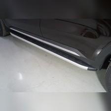 Пороги алюминиевые с пластиковой накладкой 1820 мм Kia Sorento 2020
