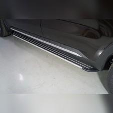 "Пороги алюминиевые ""Slim Line Silver"" 1820 мм Kia Sorento 2020"