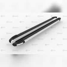 """Пороги, подножки, ступени Citroen C-Crosser 2007 - 2013, модель """"BRILLIANT BLACK"""""""