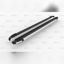 "Пороги, подножки, ступени Kia Sorento Prime 2015 - 2019, модель ""BRILLIANT BLACK"""