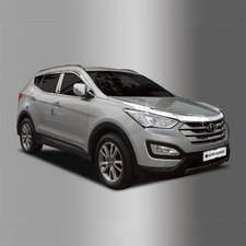 Дефлектор капота Hyundai Santa Fe 2012 - 2017 (хром)