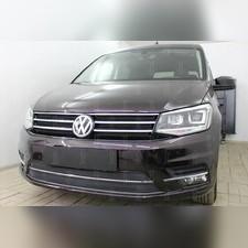 Защита радиатора верхняя Volkswagen Caddy 2015-н.в. стандартная черная