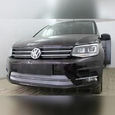 Защита радиатора верхняя Volkswagen Caddy 2015-н.в. стандартная хром