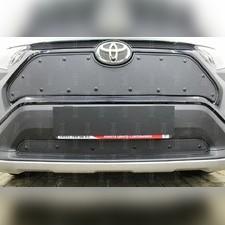 Защита радиатора верхняя Toyota Rav 4 2019-н.в. стандартная с парктроником зимний пакет