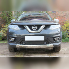 Защита радиатора нижняя Nissan X-Trail T32 2015-2018 OPTIMAL с парктроником зимний пакет