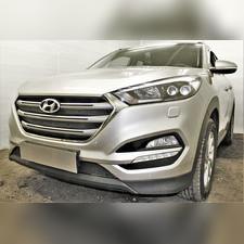 Защита радиатора верхняя Hyundai Tucson 2015-2018 (Travel,Prime,Dynamic, High) OPTIMAL зимний пакет