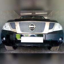 Защита радиатора верхняя Nissan Patrol 2010-2013 PREMIUM зимний пакет
