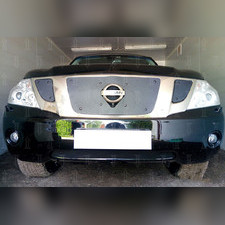 Защита радиатора нижняя Nissan Patrol 2010-2013 PREMIUM зимний пакет