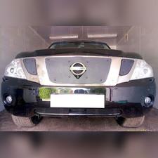 Защита радиатора нижняя с FCW Nissan Patrol 2010-2013 PREMIUM зимний пакет
