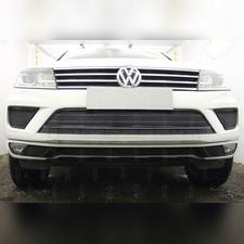 Защита радиатора боковая Volkswagen Touareg II 2014-2018 (2 части) PREMIUM черная