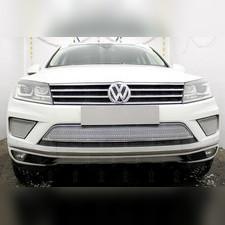 Защита радиатора боковая Volkswagen Touareg II 2014-2018 (2 части) PREMIUM хром