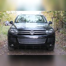 Защита радиатора боковая Volkswagen Touareg II 2010-2014 PREMIUM черная