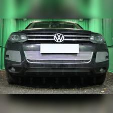 Защита радиатора боковая Volkswagen Touareg II 2010-2014 PREMIUM хром