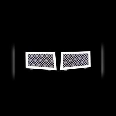 Решетки в передний бампер комплект