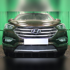 Защита радиатора Hyundai Santa Fe 2015-2018 PREMIUM зимний пакет