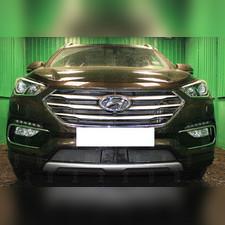 Защита радиатора с датчиком ACC Hyundai Santa Fe 2015-2018 PREMIUM зимний пакет