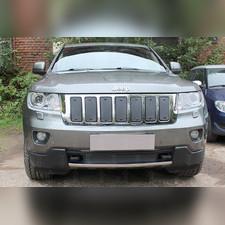 Защита радиатора верхняя Jeep Grand Cherokee (WK2) IV 2010-2013 PREMIUM зимний