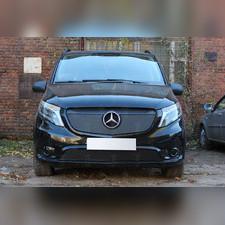 Защита радиатора верхняя Mercedes-Benz Vito III (W447) 2014-н.в. PREMIUM зимний